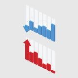 传染媒介3D图表 免版税图库摄影