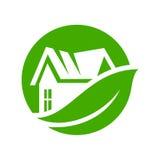 传染媒介eco房子 免版税图库摄影