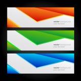 现代汇集的横幅,五颜六色的背景。 免版税库存照片