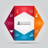 传染媒介infographic的六角形元素 免版税图库摄影