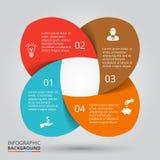 传染媒介infographic的圈子元素 免版税库存图片