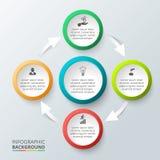 传染媒介infographic的圈子元素 库存图片