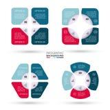 传染媒介infographic的圈子元素 库存照片