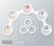 传染媒介infographic的圈子元素 免版税图库摄影