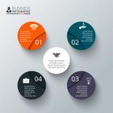 传染媒介infographic的圈子元素 图库摄影