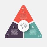 传染媒介infographic的圈子箭头 能为信息graphi使用 库存图片