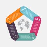 传染媒介infographic的圈子箭头 能为信息graphi使用 图库摄影