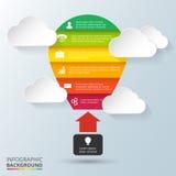 传染媒介infographic的气球元素 库存图片