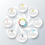 传染媒介infographic设计模板 免版税库存图片