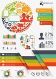 传染媒介Infographics 库存图片