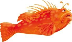 传染媒介llustration 3D红大马哈鱼AI EPS 免版税图库摄影
