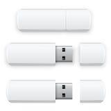 传染媒介USB闪光 库存图片