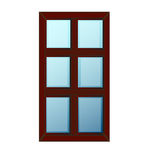 传染媒介Windows塑料Glosed 图库摄影