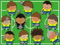 传染媒介worldcup巴西队 库存图片