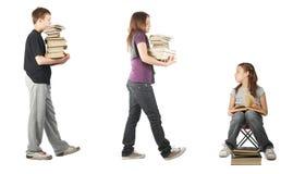 传染性的家庭作业 免版税库存照片