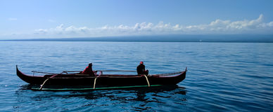 传统三船体游艇 库存照片