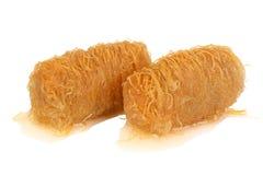 传统东方点心果仁蜜酥饼用糖浆 免版税库存图片
