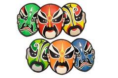 传统中国五颜六色的屏蔽的歌剧 免版税库存图片