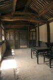 传统中国内部的亭子 库存图片