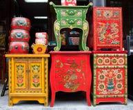传统中国家具的界面 免版税库存图片