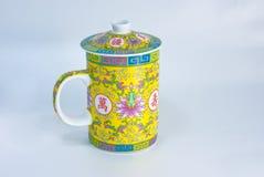 传统中国杯子的茶 免版税图库摄影