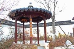传统中国的亭子 免版税图库摄影