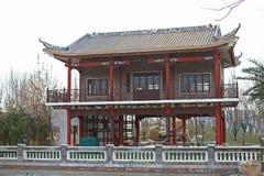 传统中国的亭子 免版税库存图片