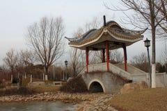 传统中国的亭子 库存照片