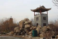传统中国的亭子 库存图片