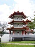 传统中国的塔 库存图片
