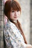 传统中国的女孩 免版税库存图片