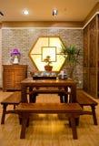 传统中国的家具 图库摄影