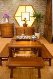 传统中国的家具 免版税库存图片