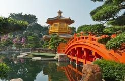 传统中国的庭院 免版税库存图片