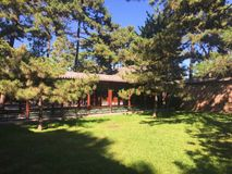 传统中国的庭院 库存照片