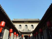 传统中国的庭院 免版税图库摄影