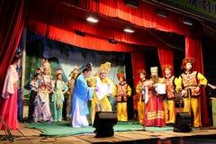 传统中国的歌剧 库存照片