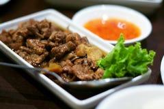 传统中国的烹调 库存照片