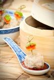 传统中国的膳食 免版税库存图片