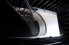 传统中国的螺旋形楼梯 免版税库存照片