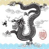 传统中国的龙 免版税库存照片