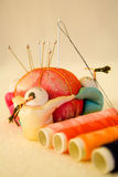 传统中国缝合的工具 库存照片