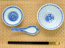 传统中国设置的表 图库摄影