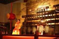 传统中国音乐的性能 免版税库存图片