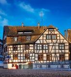 传统之家在史特拉斯堡 免版税库存照片