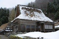 传统乡间别墅的日本式 库存照片