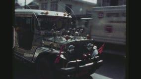 传统五颜六色的出租汽车 影视素材