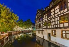 传统五颜六色的房子在史特拉斯堡-阿尔萨斯法国 库存图片