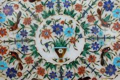 传统五颜六色的花卉大理石桌面待售,阿格拉 库存照片