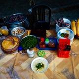 传统亚洲食物-面条banh canh 库存照片